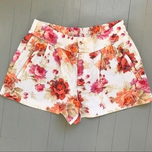 NWOT Zara floral shorts